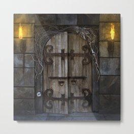 Gothic Spooky Door Metal Print