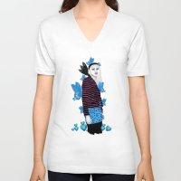 butterflies V-neck T-shirts featuring Butterflies by Eveline