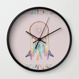 Gypsy Dreams Dreamcatcher on Rose with Gypsy Dreams Trim Wall Clock