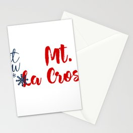 Snow in Mt. La Crosse Stationery Cards