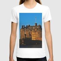 edinburgh T-shirts featuring Edinburgh Castle by merialayne