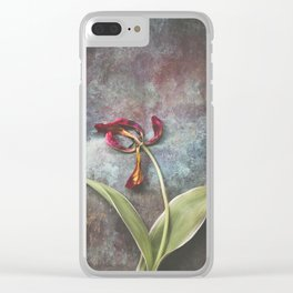 Faded Tulip Clear iPhone Case