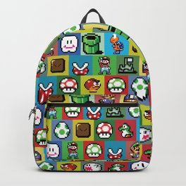 Mario and Luigi Pattern Backpack