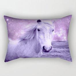 Lavender Horse Celestial Dreams Rectangular Pillow