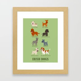 IRISH DOGS Framed Art Print