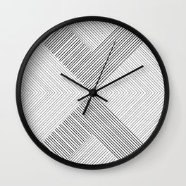 Stripe Geometric Arrow Wall Clock