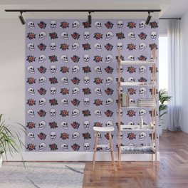 FLORAL SKULL (LILAC) Wall Mural