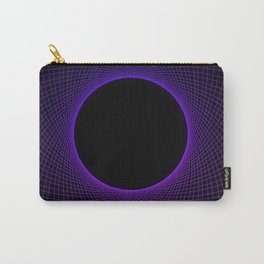 Blueberry Vortex Black & Blue Circular Design Carry-All Pouch