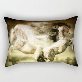 Midnight Stallion Rectangular Pillow