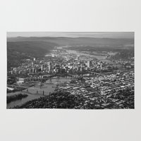 portland Area & Throw Rugs featuring Portland by Erik Graham Photography
