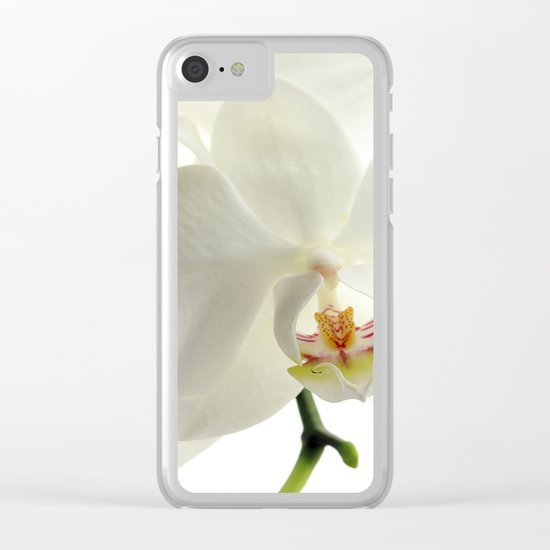 orchid flower Clear iPhone Case