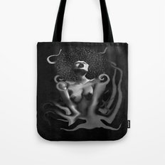 OCTO-PUSSY Grunge (BLK&WHITE)  Tote Bag