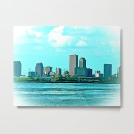 New Orleans Skyline (video game graphic style) Metal Print