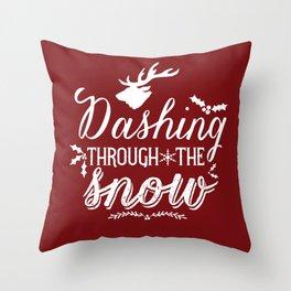 Dashing- Red Throw Pillow