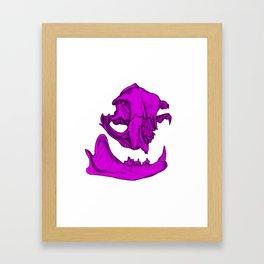 Cat Skull 3 (magenta/fuchsia) Framed Art Print