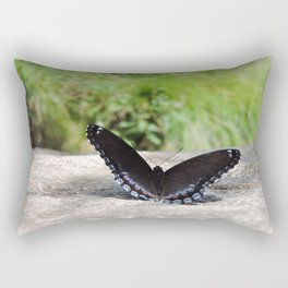 Butterfly on Rock Rectangular Pillow