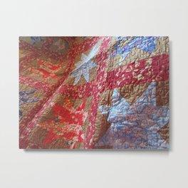 Sawtooth Quilt Metal Print