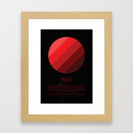 Galaxy Cake - Mars Framed Art Print