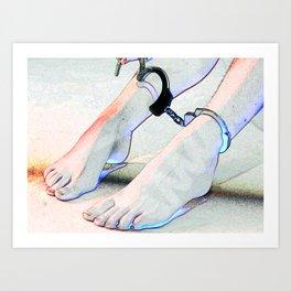 Sexy Cuffed Feet Art Print