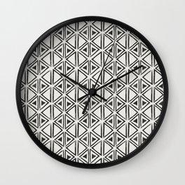 Block Print Diamond Wall Clock