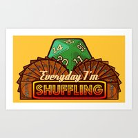 magic the gathering Art Prints featuring Everyday I'm Shuffling  |  Magic The Gathering by Silvio Ledbetter
