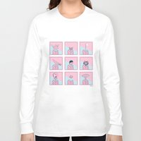 talking heads Long Sleeve T-shirts featuring Heads by Bruno Gabrielli