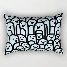 Penguin Huddle Rectangular Pillow