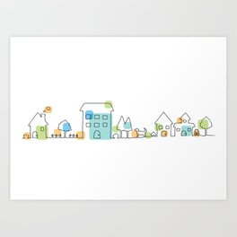 happy town Art Print