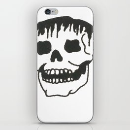 Dropping skull iPhone Skin