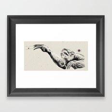 Karate Sloth Framed Art Print