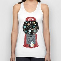 universe Tank Tops featuring My childhood universe by I Love Doodle