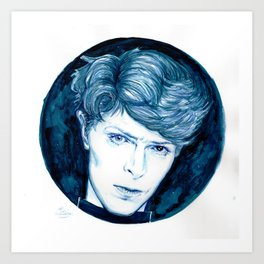 Planet Earth is Blue // Bowie Art Print