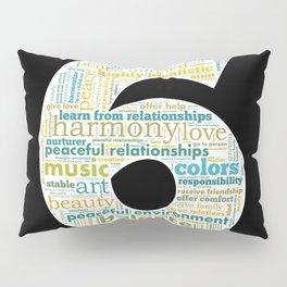 Life Path 6 (black background) Pillow Sham