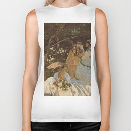 Monet- Women in the Garden, nature,Claude Monet,impressionist,post-impressionism,painting Biker Tank