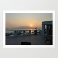 Sunset in the Philippines Art Print