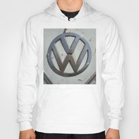 vw bus Hoodies featuring Rusty VW Bus Symbol by wildVWflower
