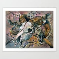 Aries and the Finches Reborn Art Print
