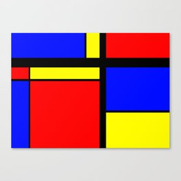 Tri Colour Canvas Print