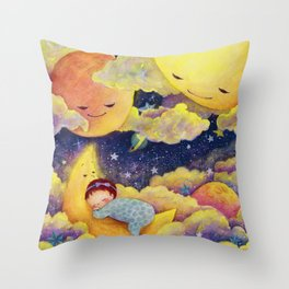 Sleeping in the moonlinght Throw Pillow