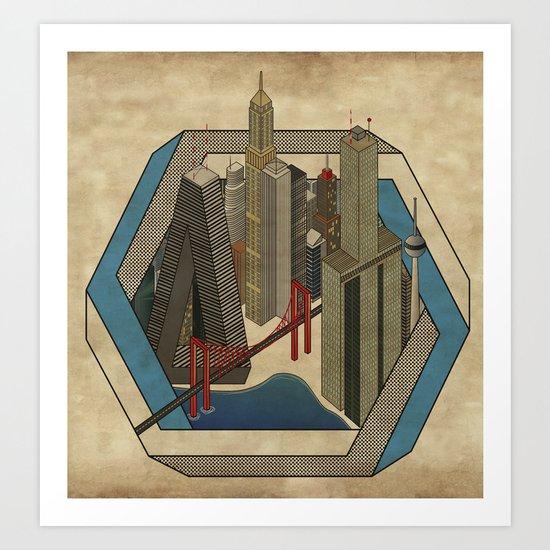 Impossibleville Art Print
