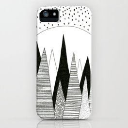 Moonlight Forest (pen on paper) iPhone Case