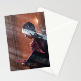 Young Monk in Bagan Stationery Cards