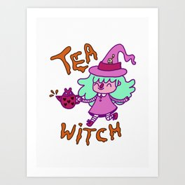 Tea Witch Art Print
