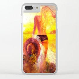 Summer Dream Clear iPhone Case