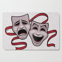 Comedy And Tragedy Theater Masks Cutting Board