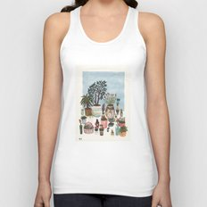 Potted Flowers I Unisex Tank Top