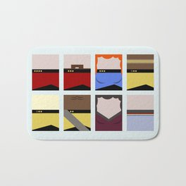 Enterprise 1701 D - Minimalist Star Trek TNG The Next Generation - startrek - Trektangles  Bath Mat