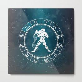 Acquarius Zodiac Metal Print