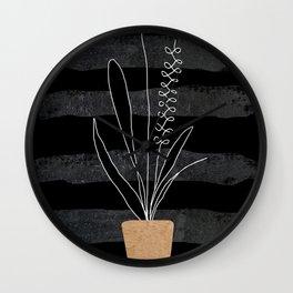Scandi Plant 2 Wall Clock