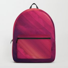 Vibrant Colorful Rays between Clouds 16 Backpack